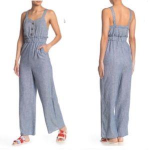 Romeo & Juliet Couture Linen Blend Jumpsuit M NWT